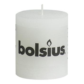 Bolsius stompkaars rustiek wit 80x68