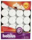 Bolsius theelichten 6 uur wit 40st