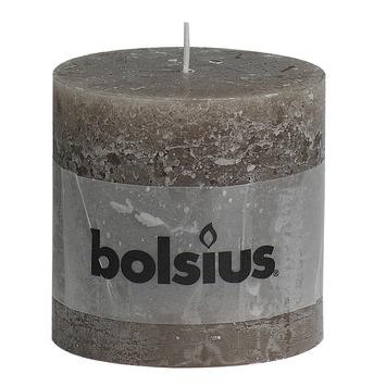 Bolsius stompkaars rustiek taupe 100x100