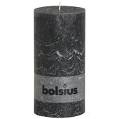 Bolsius stompkaars rustiek antraciet 200x100