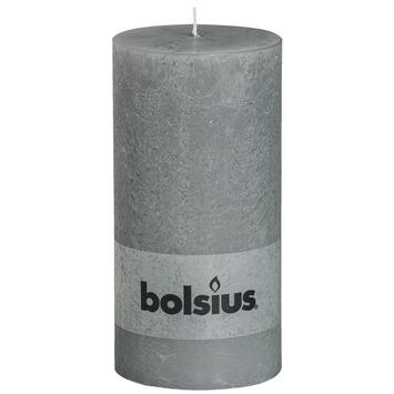 Bolsius stompkaars rustiek licht grijs 200x100