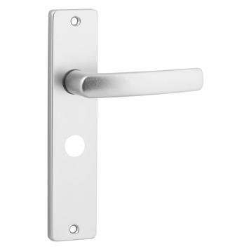 KARWEI Blok deurkrukset met slotgat voor wc 63/8mm aluminium