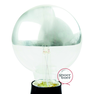 Snoerboer LED kopspiegel zilver 95mm E27 4W(=20W) dimbaar