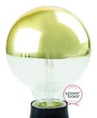 Snoerboer LED kopspiegel goud 95mm E27 4W(=20W) dimbaar