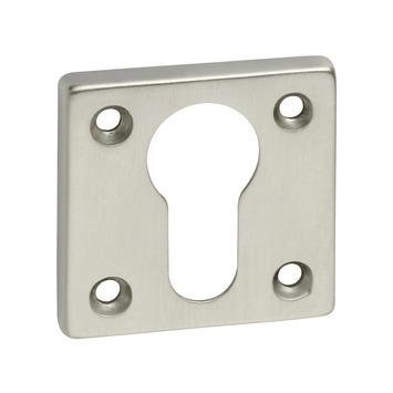 KARWEI cilinderplaatje vierkant mat nikkel