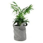 Plantenmand Lola grijs van stof met coating 16x13 cm