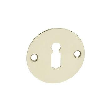 KARWEI sleutelplaatje rond plat messing (2 stuks)