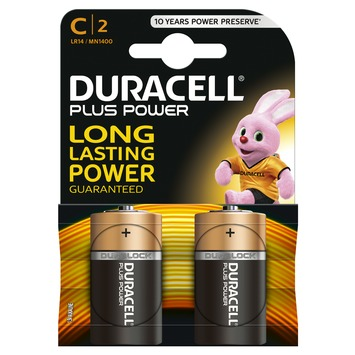 Duracell Plus Power batterij c 2 stuks