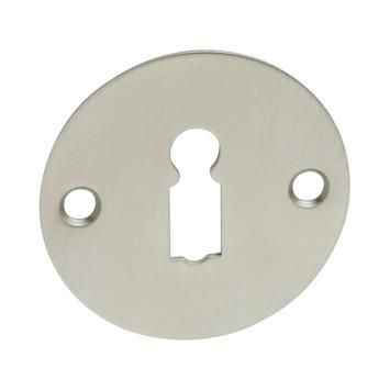 KARWEI sleutelplaatje rond plat mat nikkel (2 stuks)