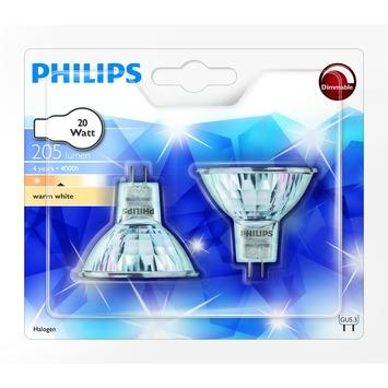Philips halogeenspot reflector GU5.3 20W 2 stuks