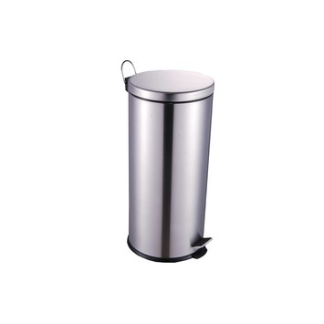 OK pedaalemmer 30 liter chroom