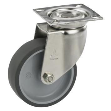 Zwenkwiel TPE met plaatbevestiging Ø 50 mm max. 40 kg
