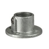 Novidade steigerbuis koppelstuk ronde voetplaat 42 mm verzinkt