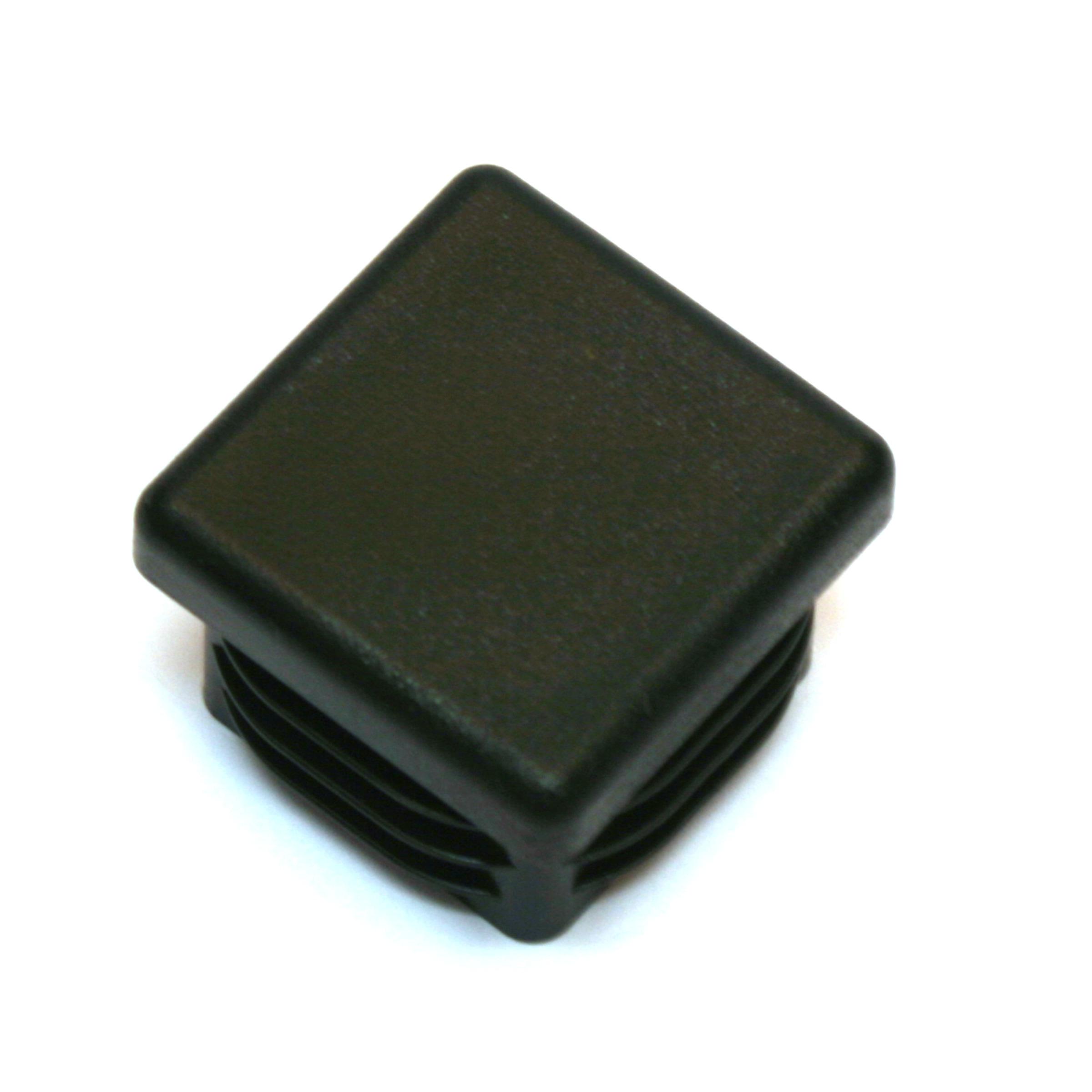 Meubeldop vierkant 30x30mm zwart 4 stuks