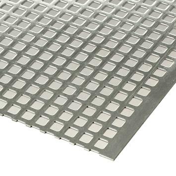 Plaat aluminium geperforeerd 1000x500x1 mm