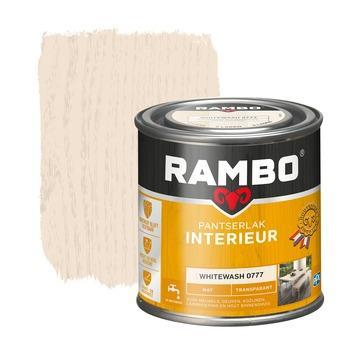 Rambo pantserlak interieur transparant mat whitewash 250 ml