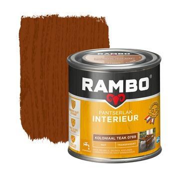Rambo pantserlak interieur transparant mat koloniaal teak 250 ml