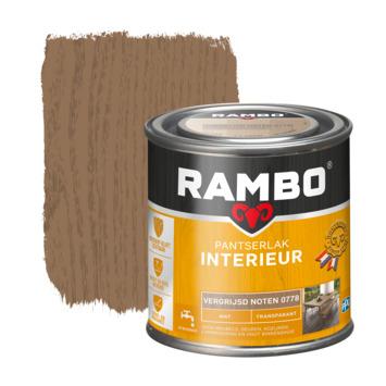 Rambo pantserlak interieur transparant mat vergrijsd noten 250 ml