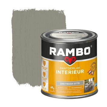 Rambo pantserlak interieur transparant zijdeglans greywash 250 ml