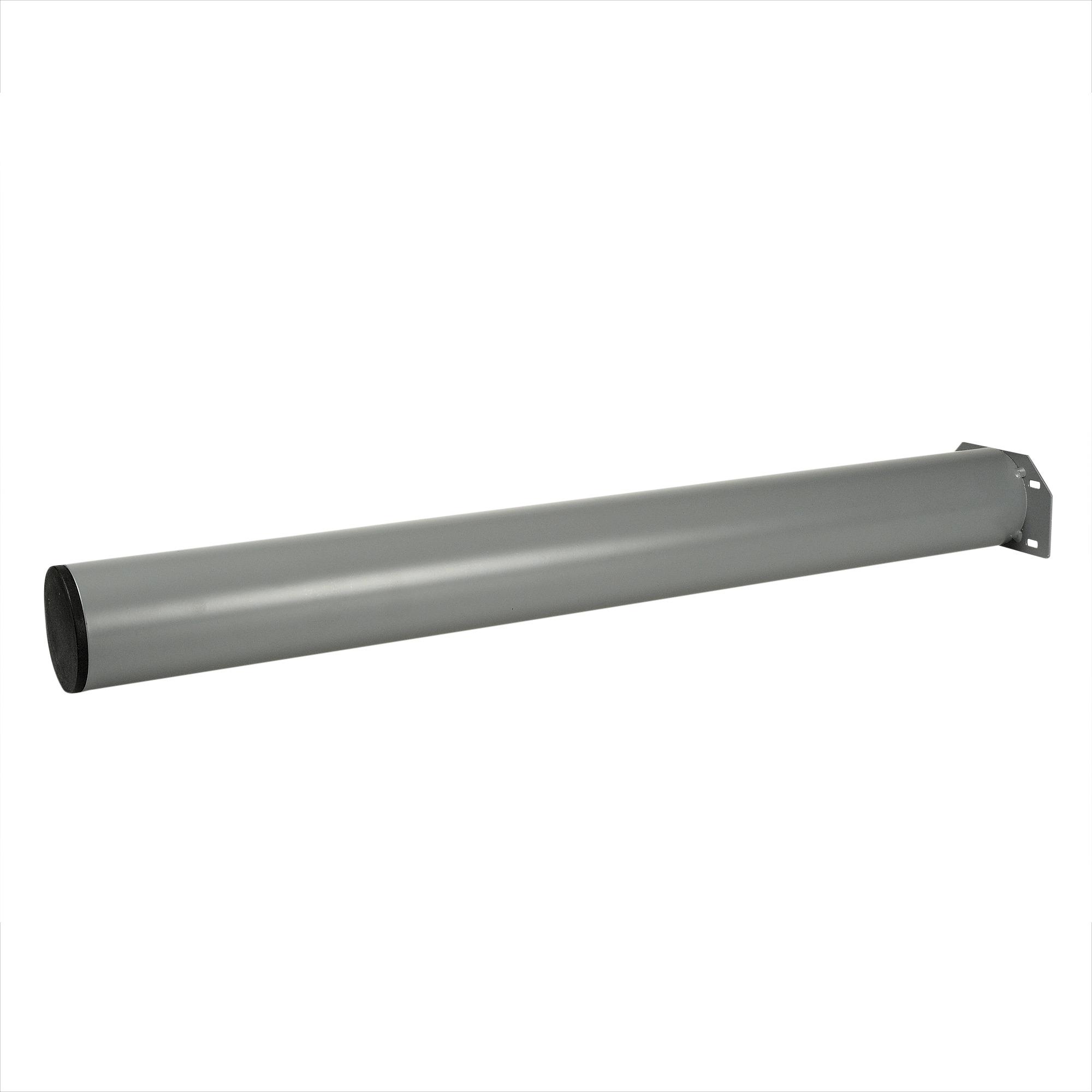 Tafelpoot rond zilvergrijs 7,6×72 cm
