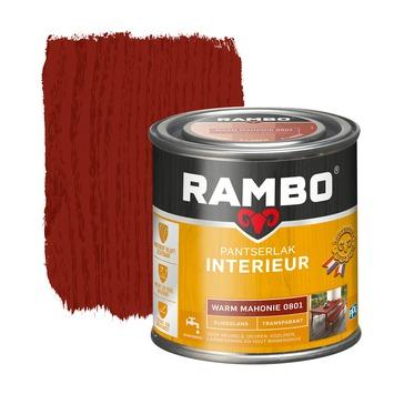 Rambo pantserlak interieur transparant zijdeglans warm mahonie 250 ml