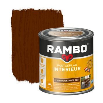 Rambo pantserlak interieur transparant zijdeglans puur palissander 250 ml