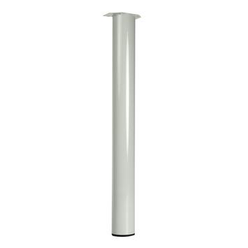 Tafelpoot rond wit 7,6x72 cm