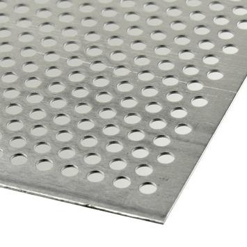 Plaat aluminium geperforeerd 1000x500mm