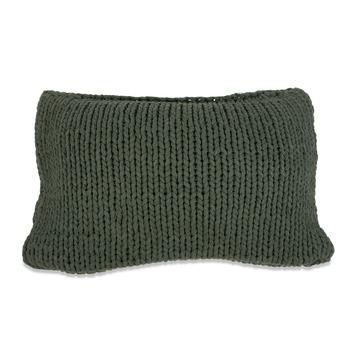 Kussen Knitted klavergroen 35x55