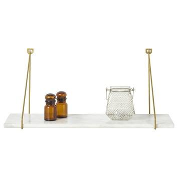 Wandplank marmer 60 cm wit