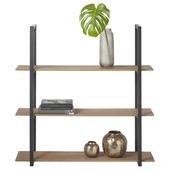 Wandrek hout/metaal 80x80 cm