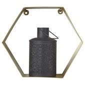 Hexagon goud 45x30 cm