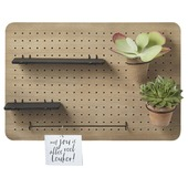 Pegboard hout incl. accessoires