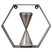 Hexagon zwart 45x30 cm
