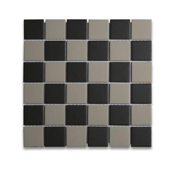Wandtegel Athene mozaiek zwart/beige 30x30cm