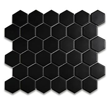 Wandtegel Athene hexagon zwart 30x30cm