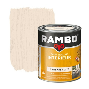 Rambo pantserlak interieur transparant mat whitewash 750 ml