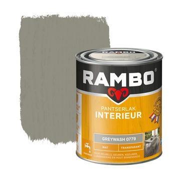 Rambo pantserlak interieur transparant mat greywash 750 ml
