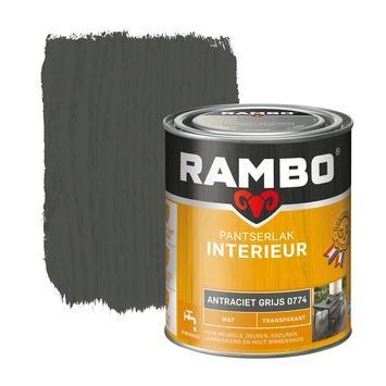 Rambo pantserlak interieur transparant mat antraciet grijs 750 ml