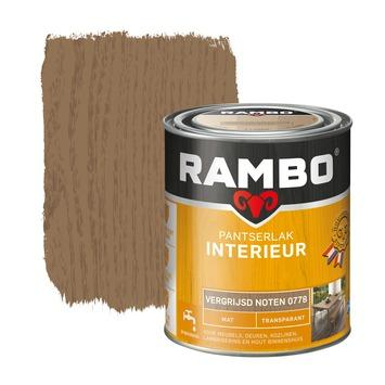 Rambo pantserlak interieur transparant mat vergrijsd noten 750 ml