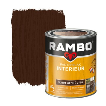 Rambo pantserlak interieur transparant zijdeglans warm wengé 750 ml