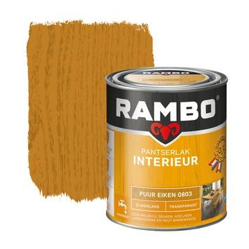 Rambo pantserlak interieur transparant zijdeglans puur eiken 750 ml