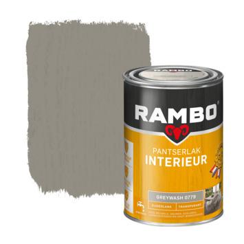Rambo pantserlak interieur transparant zijdeglans greywash 1,25 l