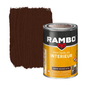 Rambo pantserlak interieur transparant zijdeglans warm wengé 1,25 l