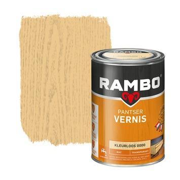 Rambo pantser vernis mat kleurloos 1,25 l