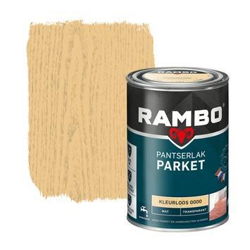 Rambo pantserlak parket transparant mat kleurloos 1,25 l