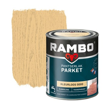 Rambo pantserlak parket transparant zijdeglans kleurloos 750 ml