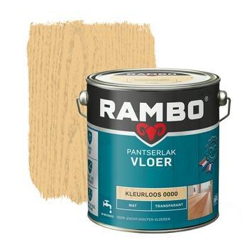 Rambo pantserlak vloer transparant mat kleurloos 750 ml 2,5 l