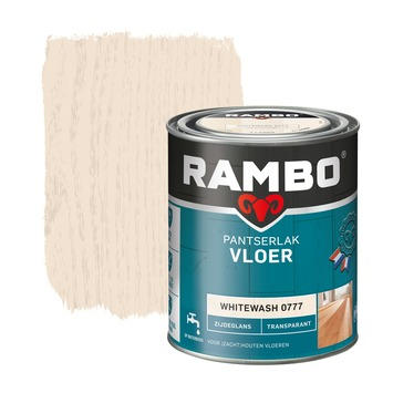 Rambo pantserlak vloer transparant zijdeglans whitewash 750 ml