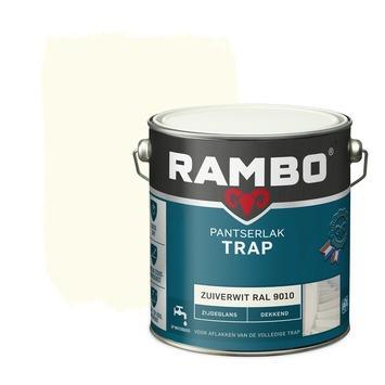 Rambo pantserlak vloer acryl dekkend zijdeglans zuiverwit 2,5 l